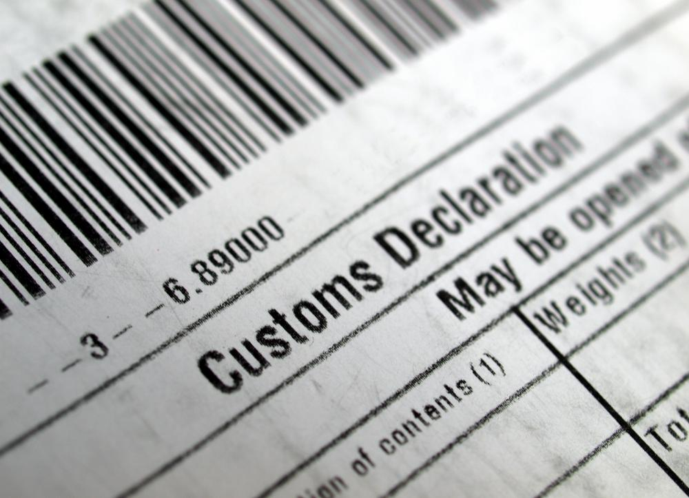 Shipping documents, such as customs declarations forms, are important for international shipments.