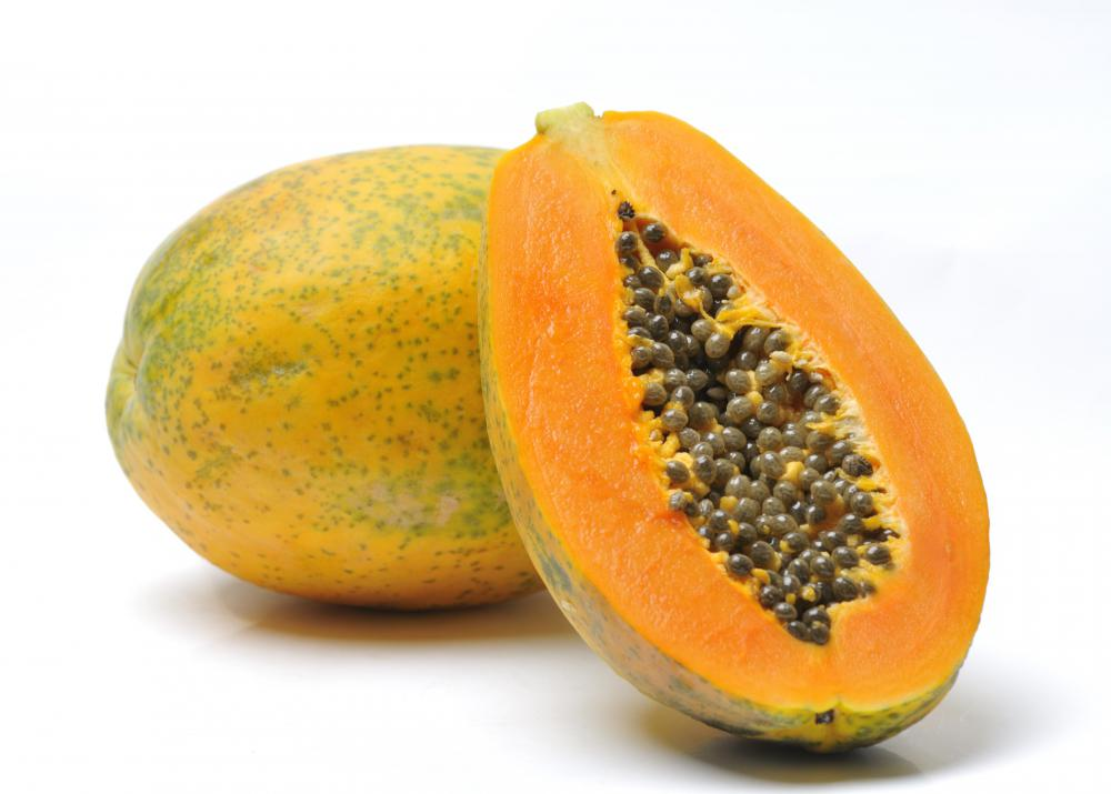The meat tenderizer papain is extracted from papaya.