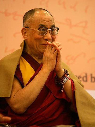 The Dalai Lama, a high lama of of Tibetan Buddhism.