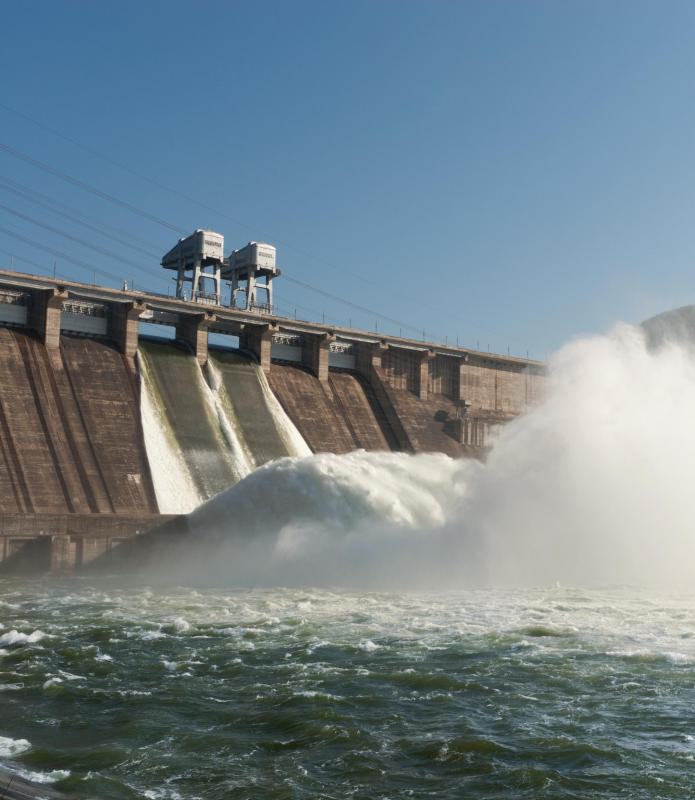 Using the energy potential of trapped water in a dam is one way to generate electricity from water.