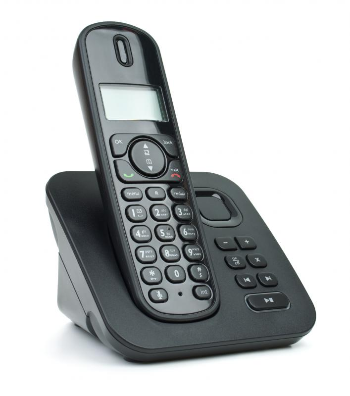 Cordless phones use RF.