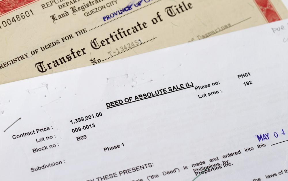 A document of title is any written legal document that verifies ownership of an item.