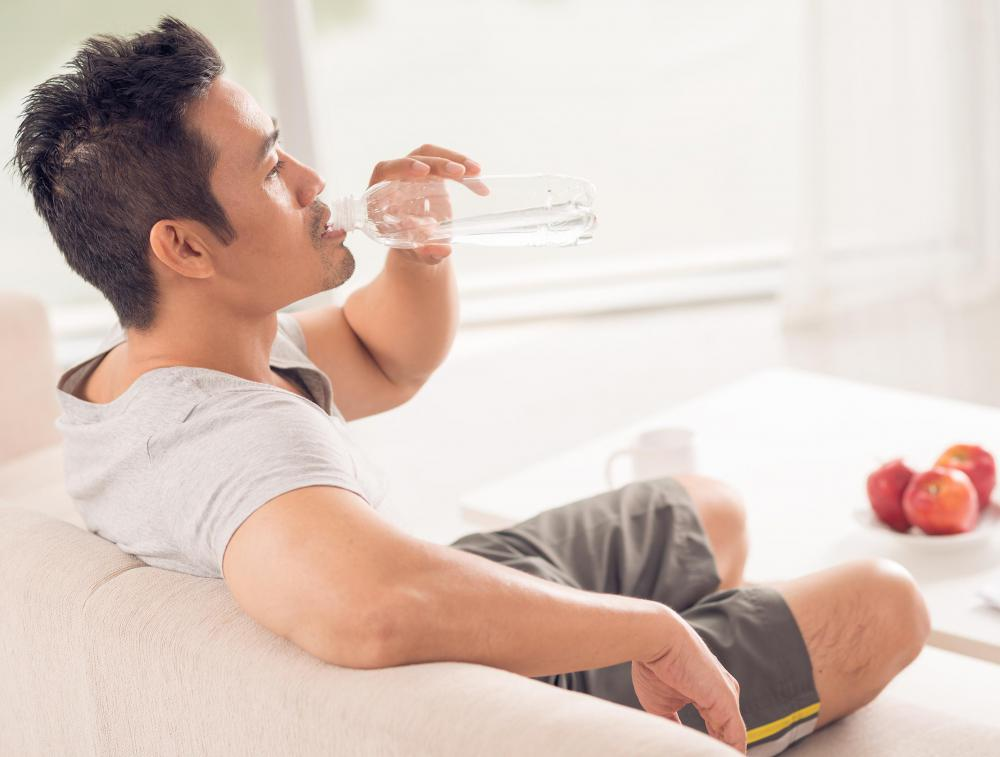 Spasms could be a sign of dehydration.
