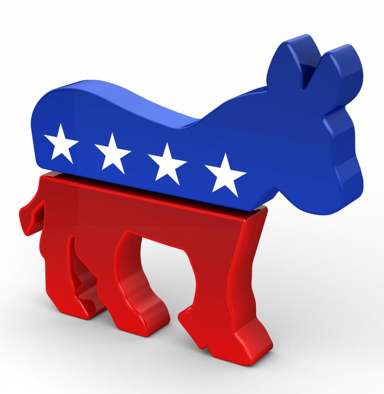 The Democratic Party's symbol is a donkey.