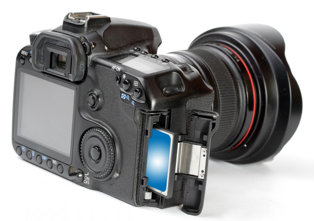 SDHC cards can be used to store photos and video taken on digital cameras.