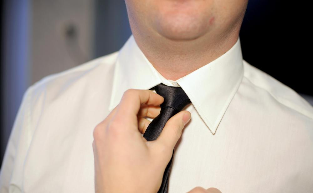 A black tie may be worn during a black tie affair.