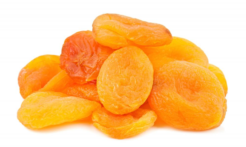 Dried apricots are a good source of fiber.