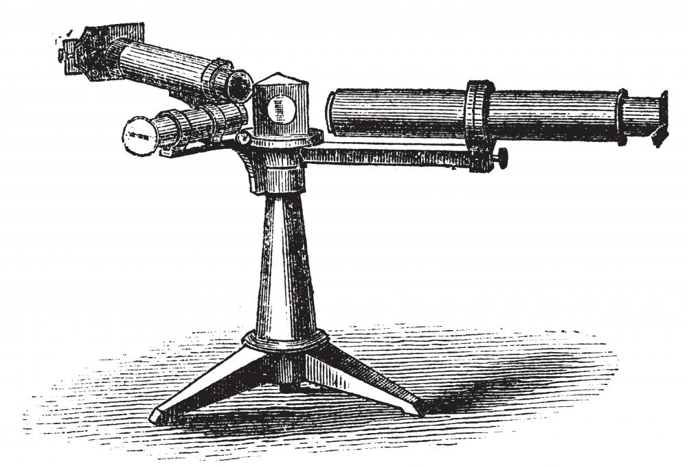 Early drawing of a spectroscope.