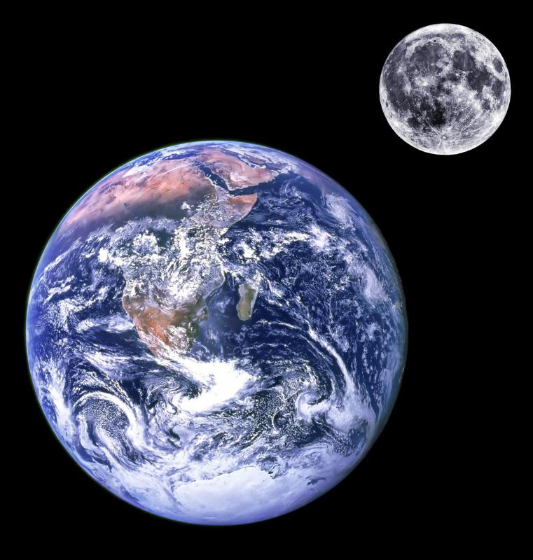 Through their mutual gravitational attraction, the Earth and Moon create tidal bulges on the other.