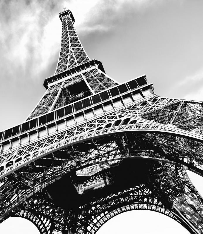 Wrought iron, used to build the Eiffel Tower, is refined from pig iron.