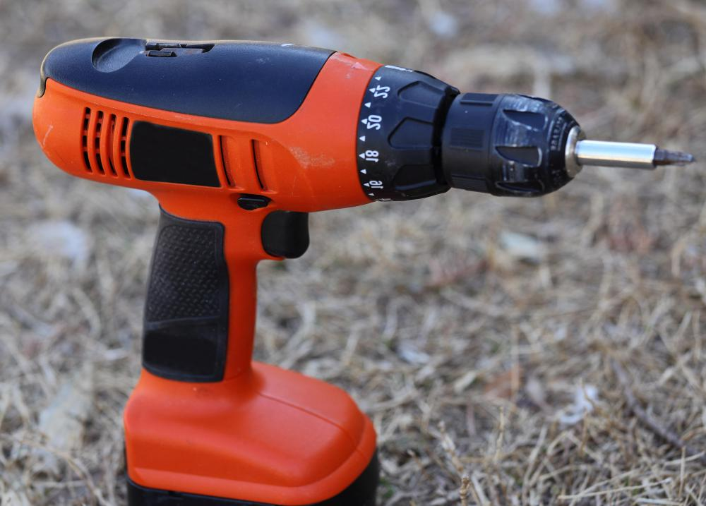 Cordless power tools may come with a rechargeable battery.