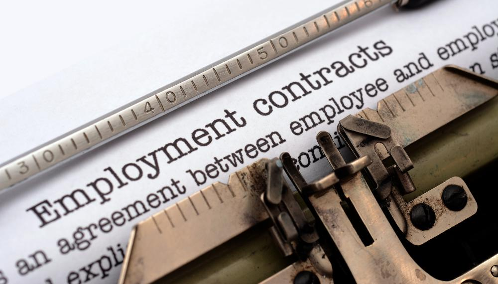 Employment agreements are one type of service contract.