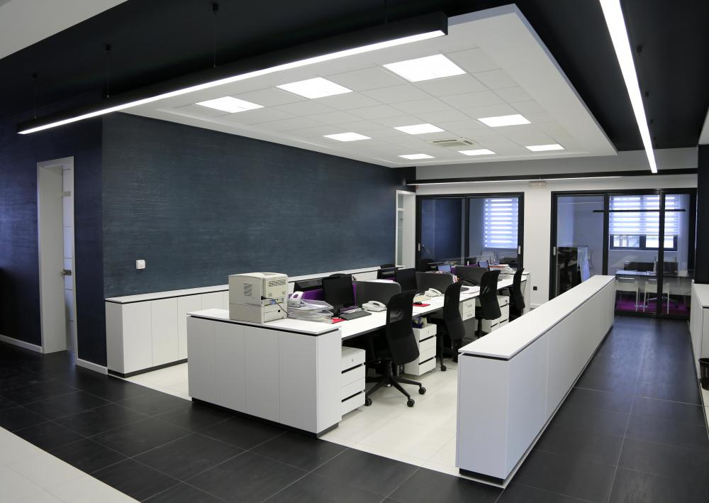 A temperature control system may be used in an office setting.
