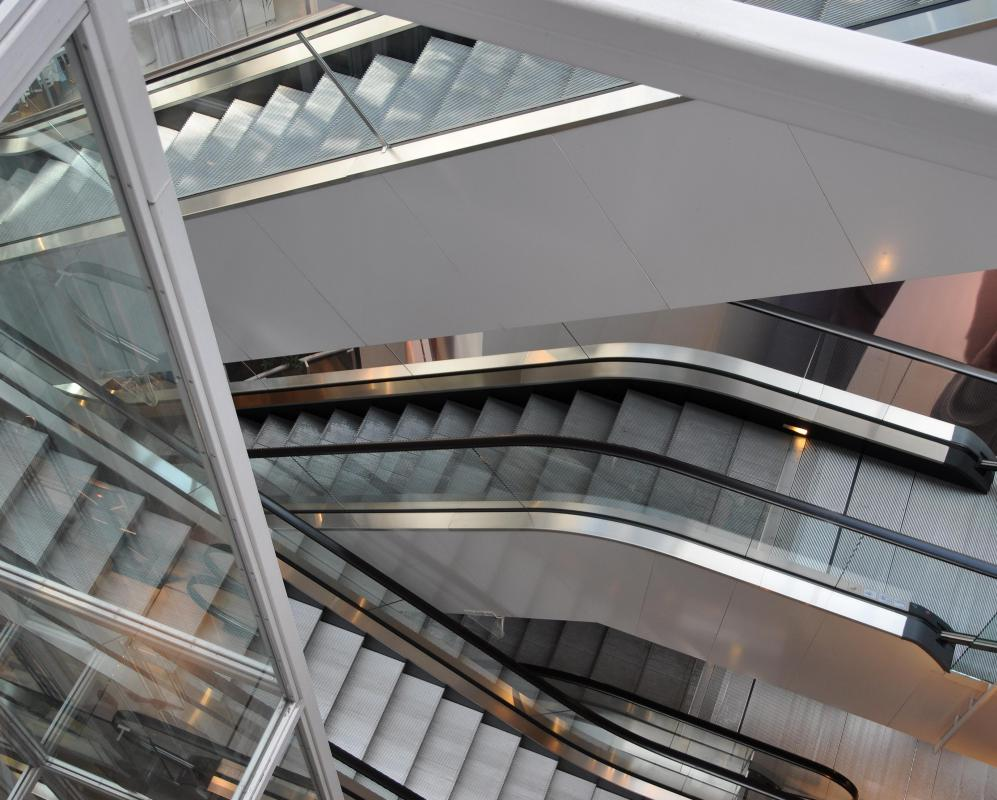 Circulation areas can include escalators in addition to stairs, lobbies and catwalks.