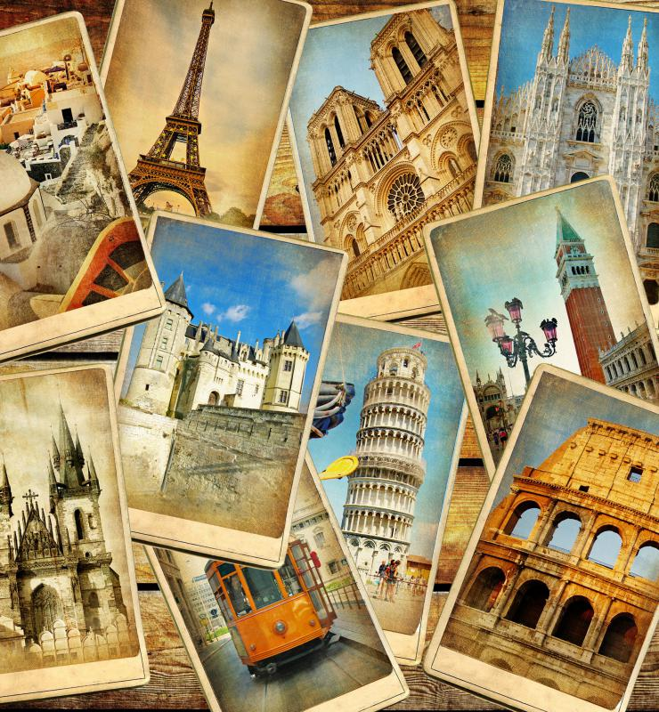 Taking in the famous sights of Europe is part of the tourism industry.