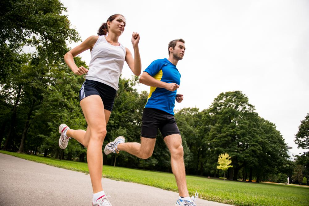 Jogging can help reduce belly flab.