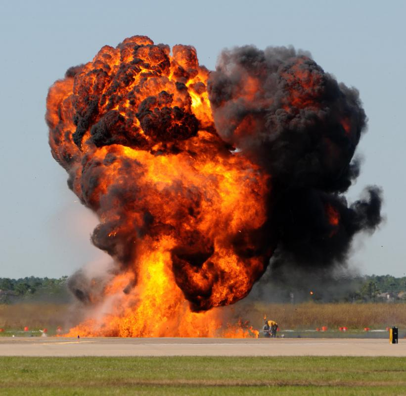 Detonation occurs when pressure is violently released from an object.