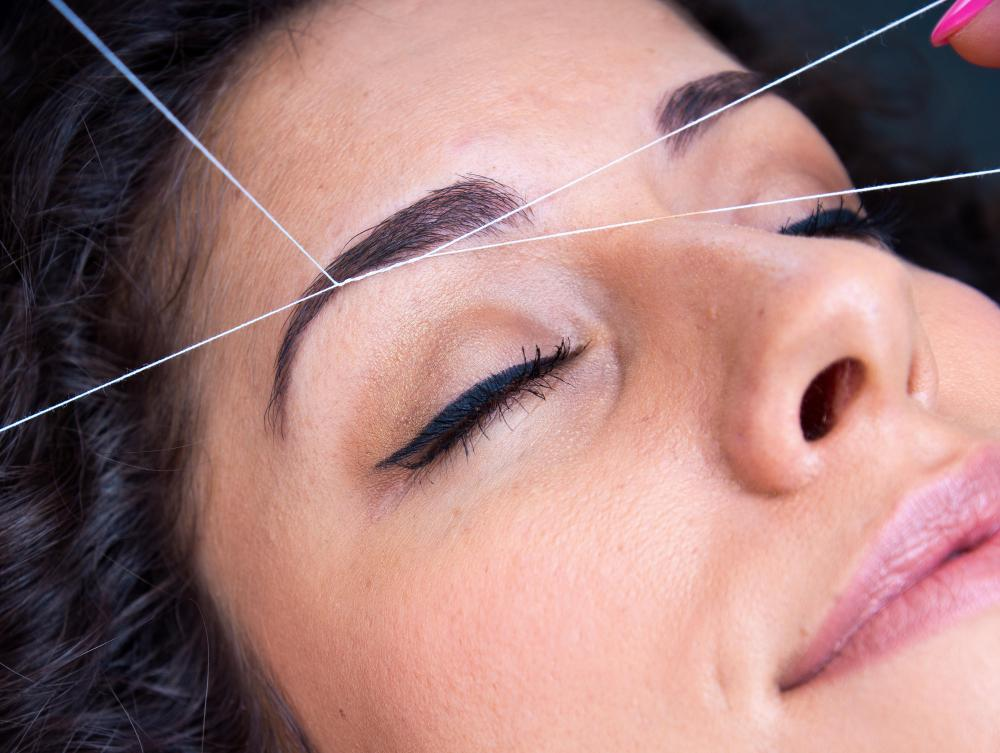 Some estheticians are skilled in hair removal methods like eyebrow threading.