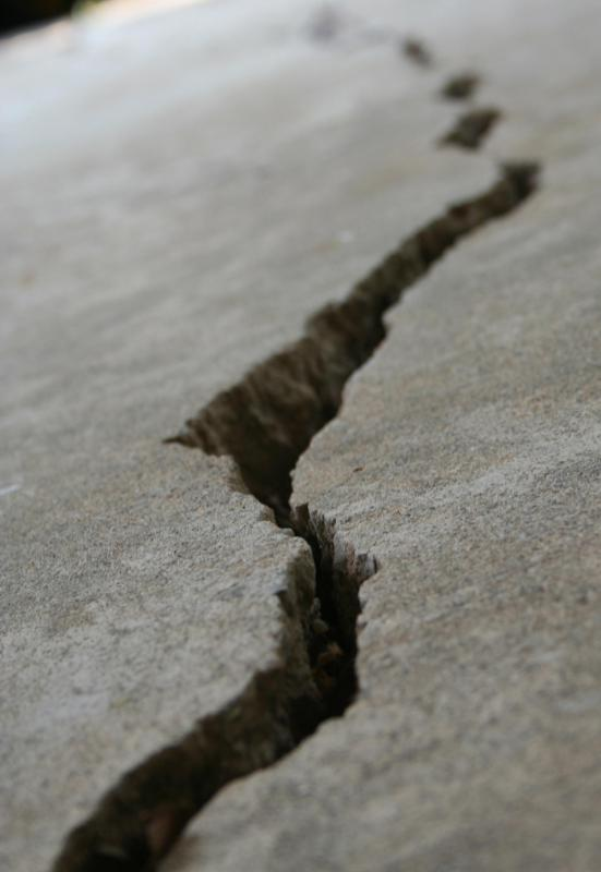 Earthquakes often cause cracks in the earth's crust.