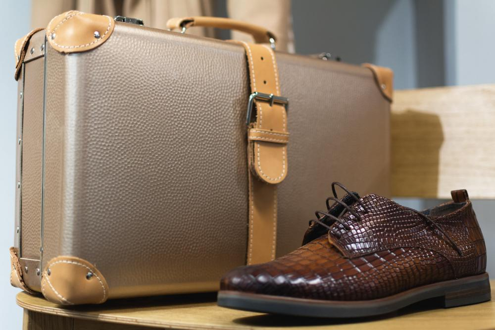 Faux leather accessories such as shoes and briefcases can be fashioned to look very similar to real leather.