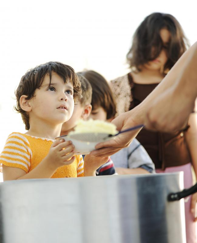 Serving children at a soup kitchen may inspire a spiritual journey.