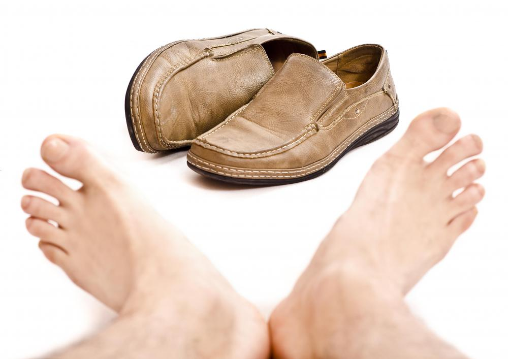 Loafers are casual shoes worn by men.