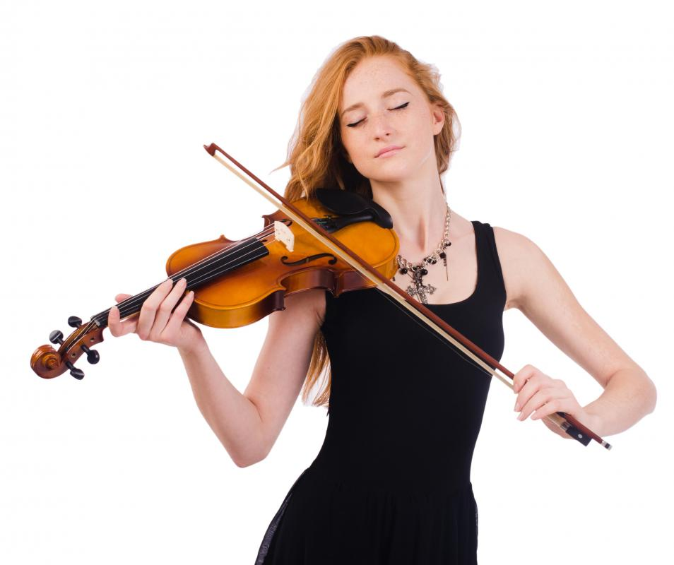 Left-handed people use violins tailored to them.