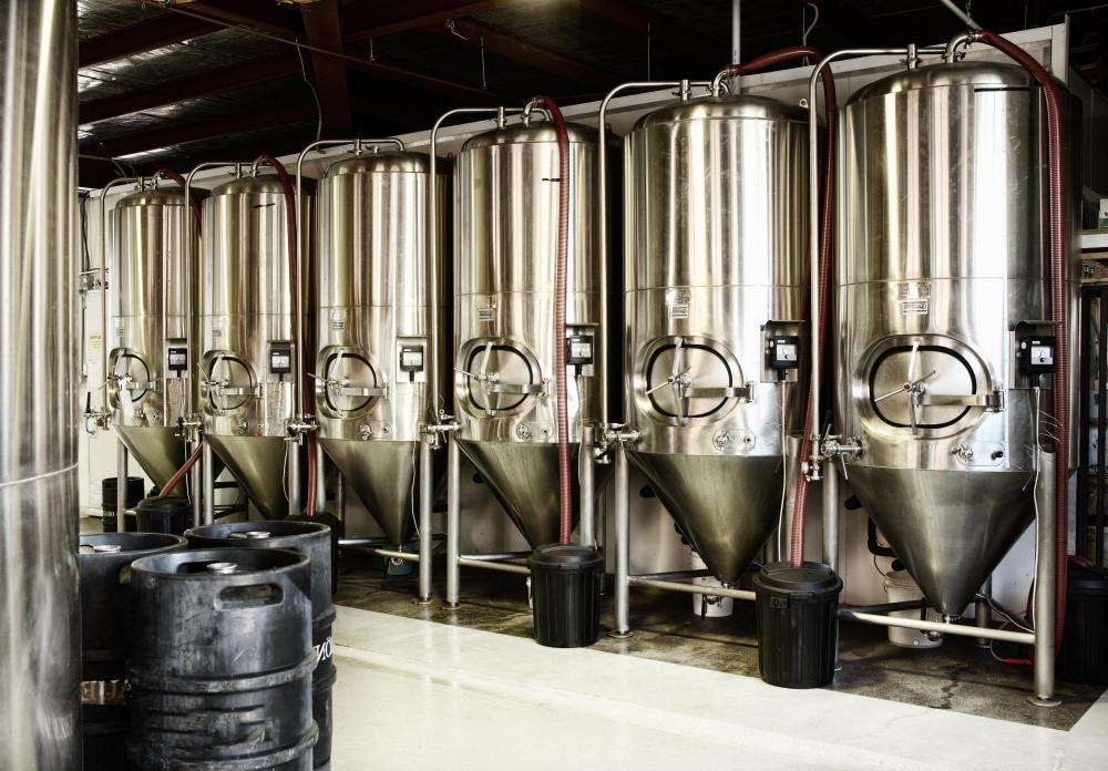 Breweries use anaerobic fermentation to make beer.