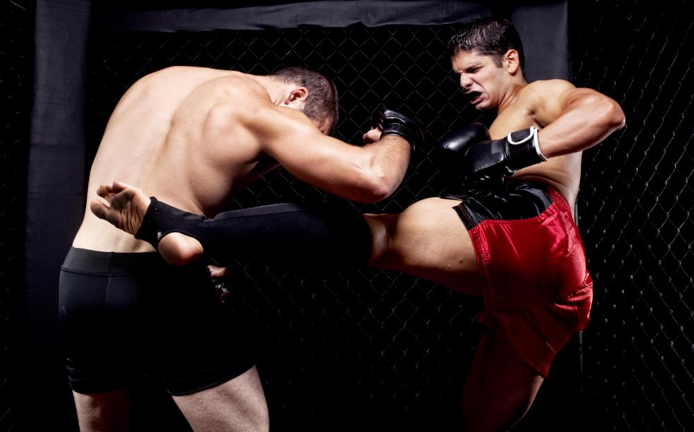 Mixed martial arts programs use sweatbands worn on the ankles or wrists to denote rank instead of traditional belts.