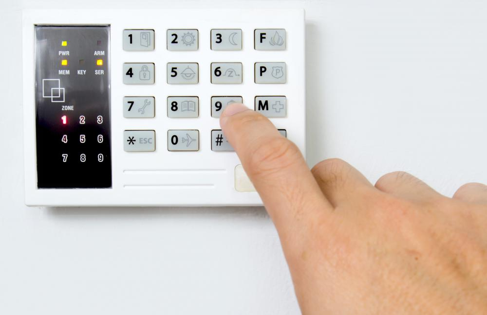 It may be best to hire an electrician to install alarm systems with wall-mounted control panels.