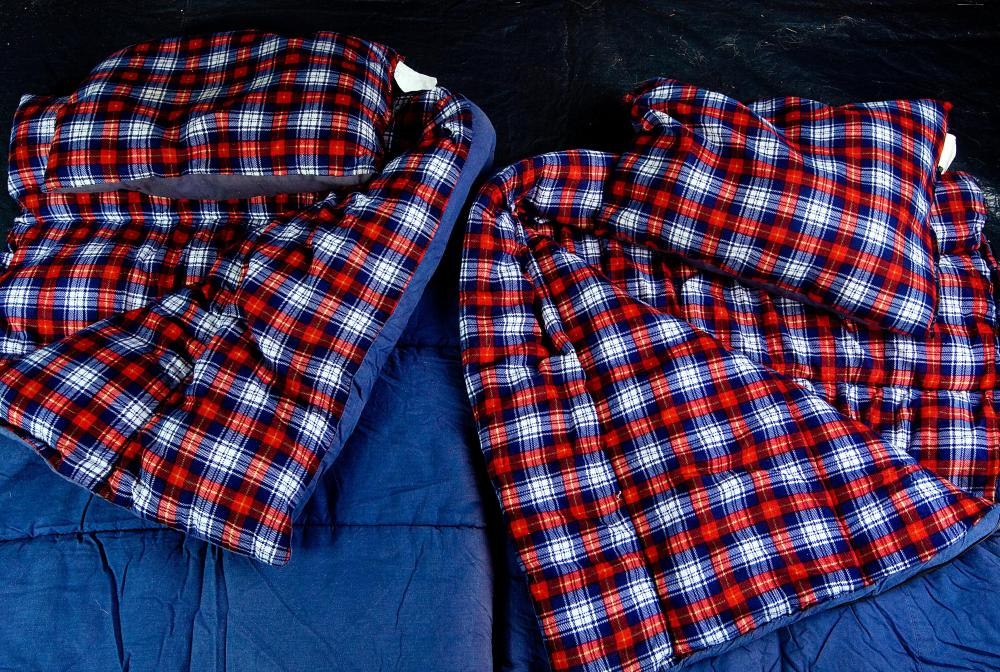 Air mattresses can be used to cushion sleeping bags for added comfort.