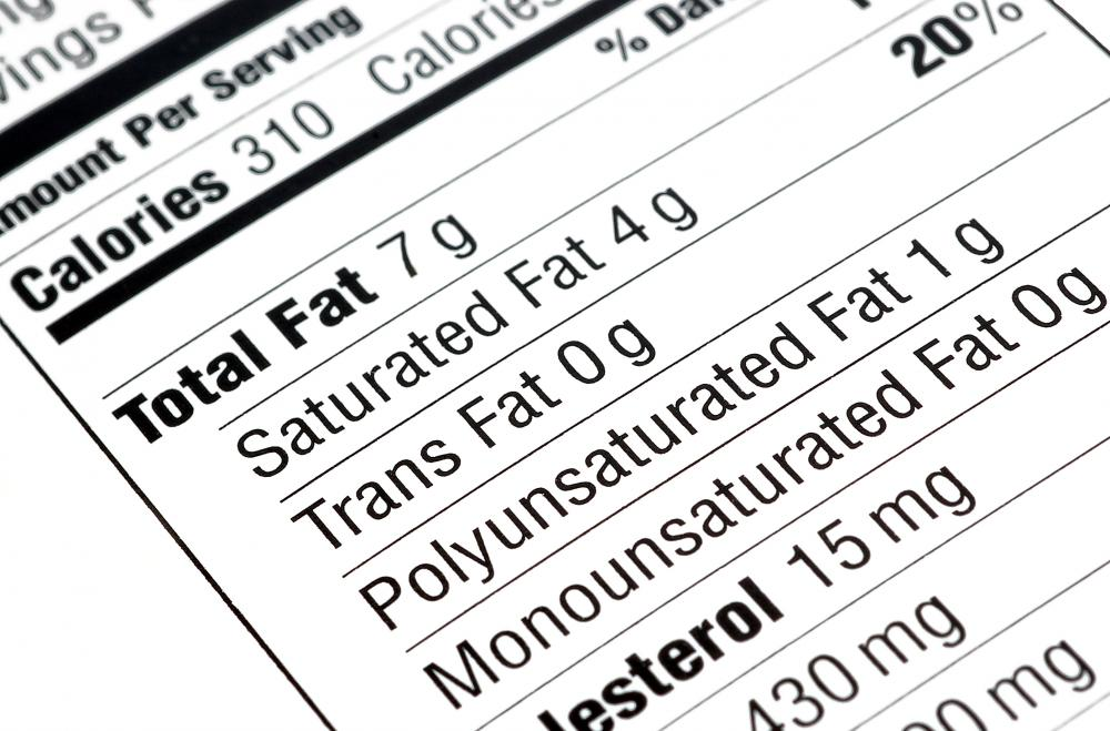 Food nutrition labels list how much sodium is in an item.