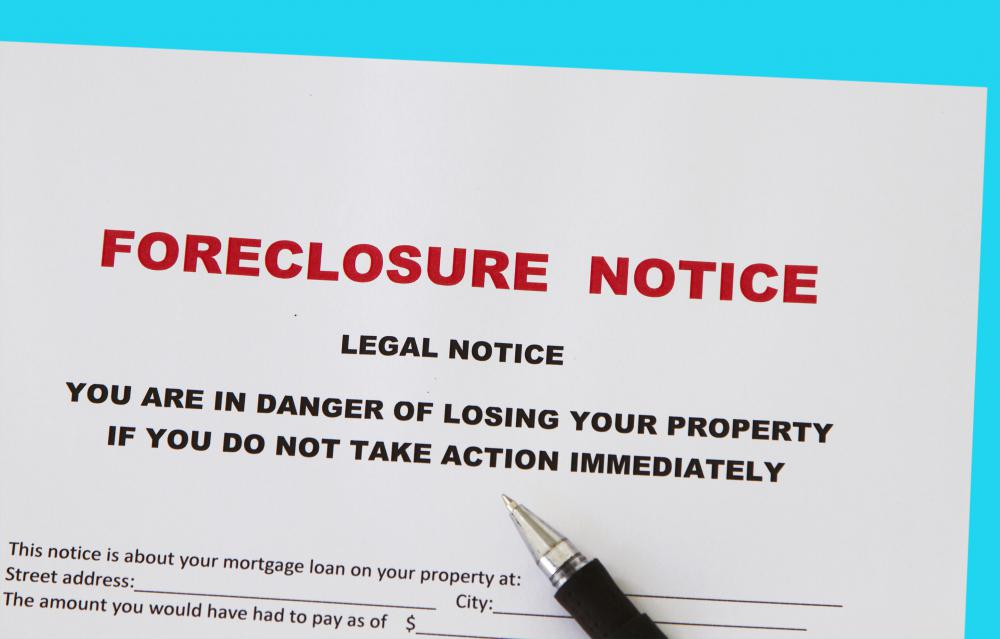 Borrowers who are unable to meet the terms of their mortgage may face bank foreclosure.