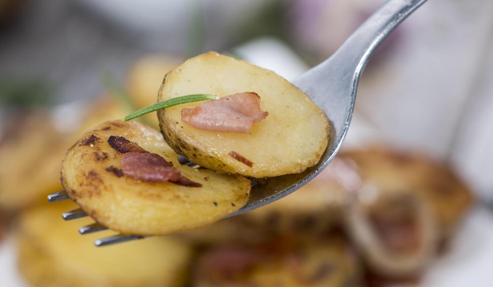Potatoes often taste sweet, because amylase turns the starch into sugar in the mouth.