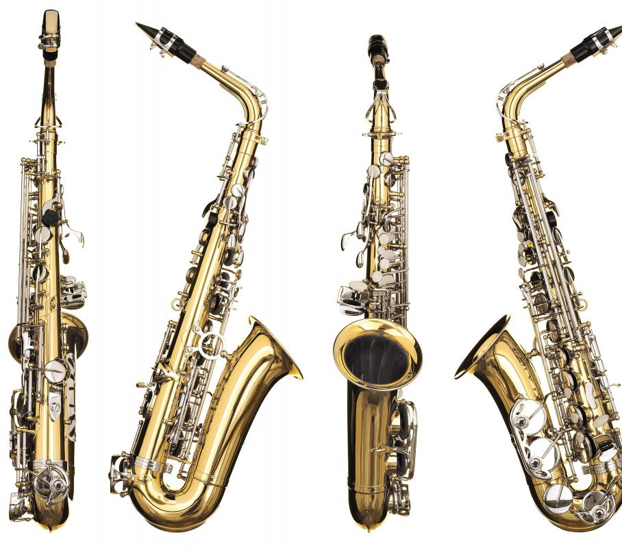 Saxophones are a popular woodwind.