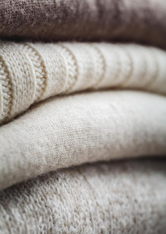An estimated 80% of the world's wool is used to make sweaters, coats, and other garments.