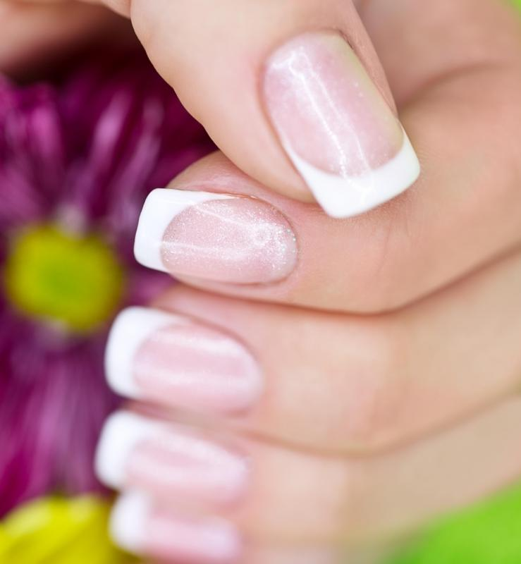 Horizontal lines can be fairly ordinary on people who regularly get their nails manicured.