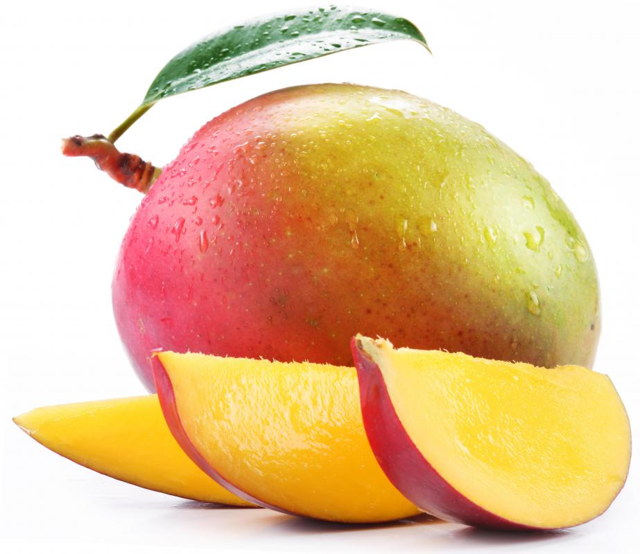 Mango is a tropical fruit with high vitamin C content.