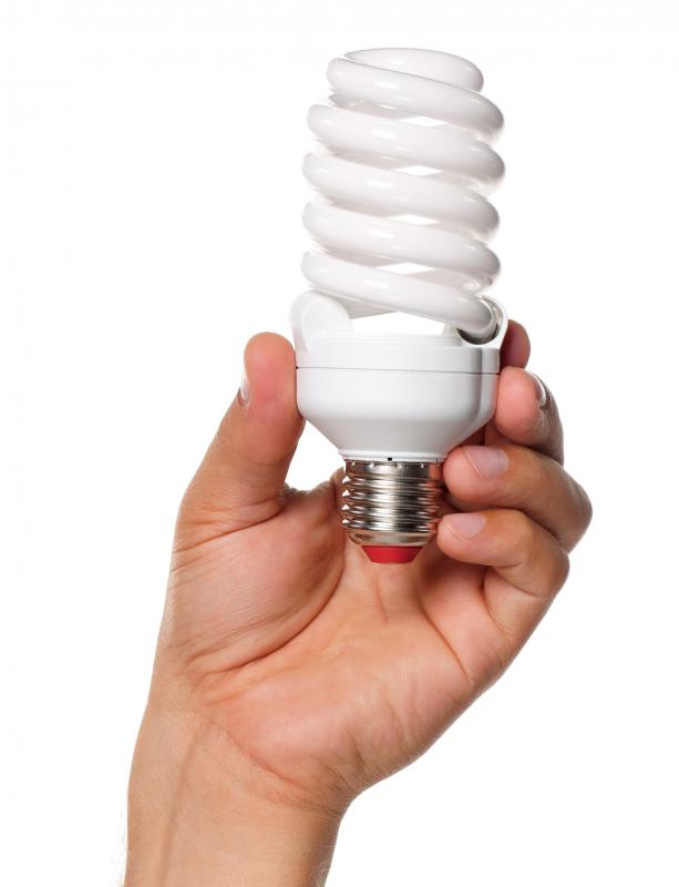 Using energy-efficient light bulbs will help save energy.