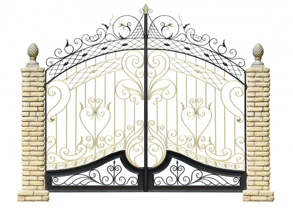 While expensive, wrought iron fencing is highly decorative and strong.