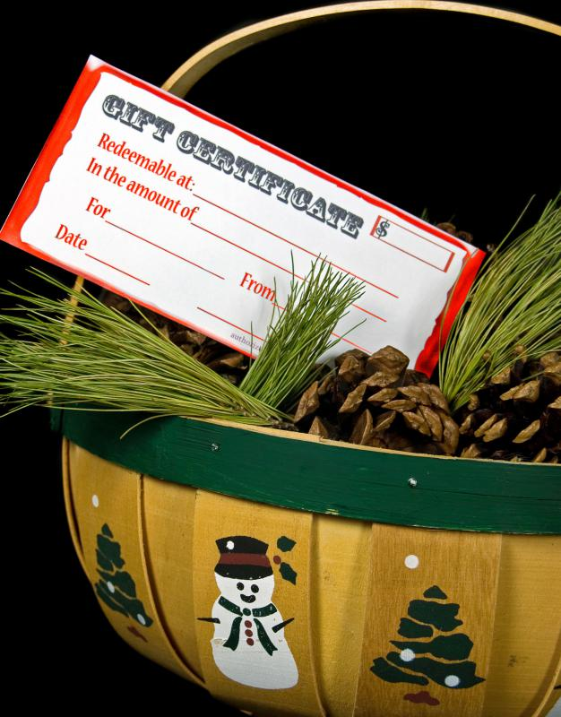 Gift certificates are popular Christmas card gifts for women.