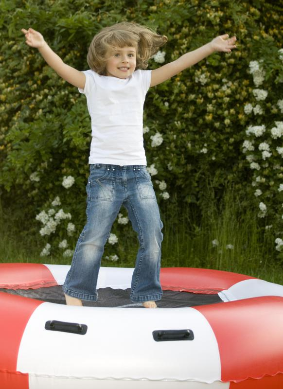 """She jumped on the trampoline"" is an example of a sentence containing a complete verb."