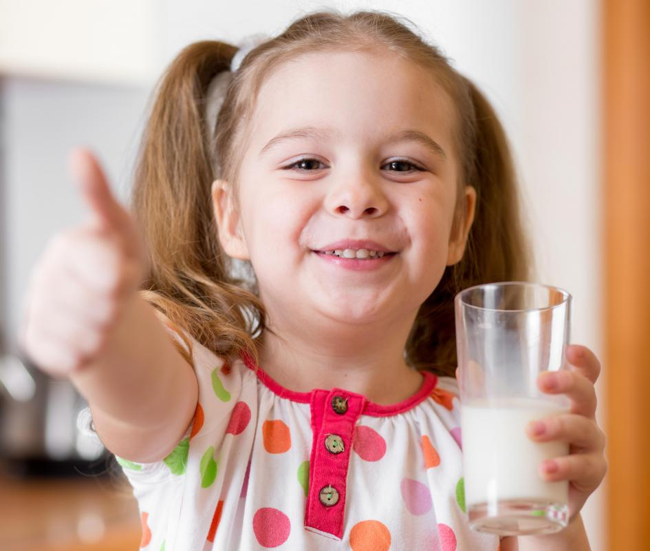 A milk allergy is of particular concern to children.