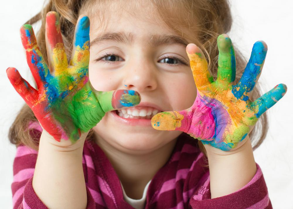 Watercolor painting can be a fun craft for children.
