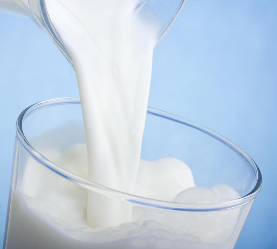 Milk is typically fortified with vitamin D.