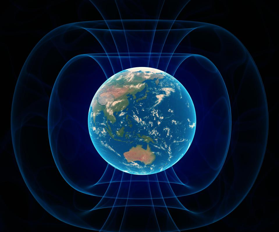 Compasses work by using the Earth's magnetic field.