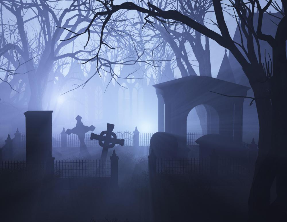 Stories about the grim reaper often feature cemeteries.