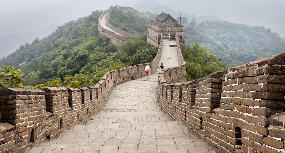 One of the most famous heritage sights in China is the Great Wall, which began construction around the 5th century B.C. and stopped around the 16th century.
