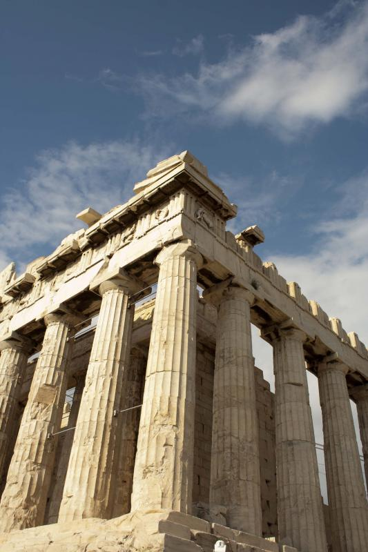 The Greek Parthenon is an example of classical architecture.