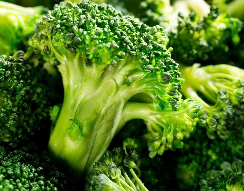 Broccoli is a source of cysteine, which helps keep nails, hair and skin healthy.